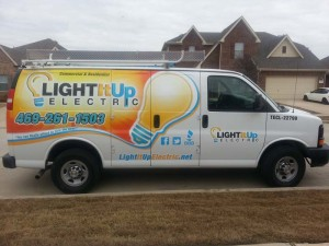 Light It Up Van - Electrical Services